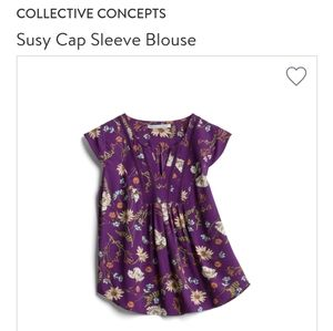 Stitch Fix Susy Cap Sleeve floral blouse
